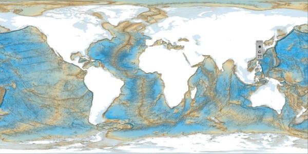Planisfero per mappamondo geologico