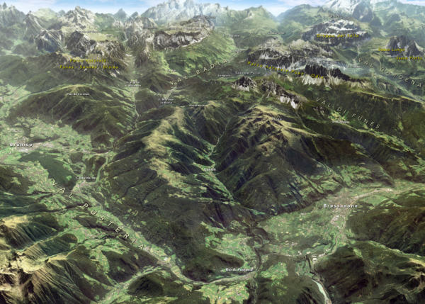 Val Pusteria, Val Badia e Val Gardena